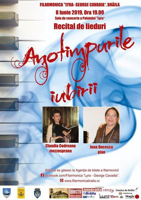 """""""Anotimpurile iubirii"""" – recital de lieduri la Palatul Lyra"""