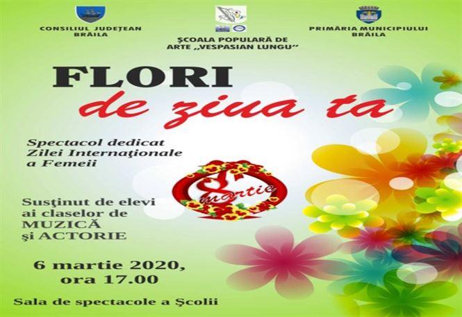 """""""Flori de ziua ta"""", spectacol dedicat Zilei internaţionale a femeii"""