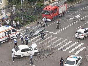 Update: Accident în această dimineață pe Calea Călărașilor, la intersecție cu strada Griviței