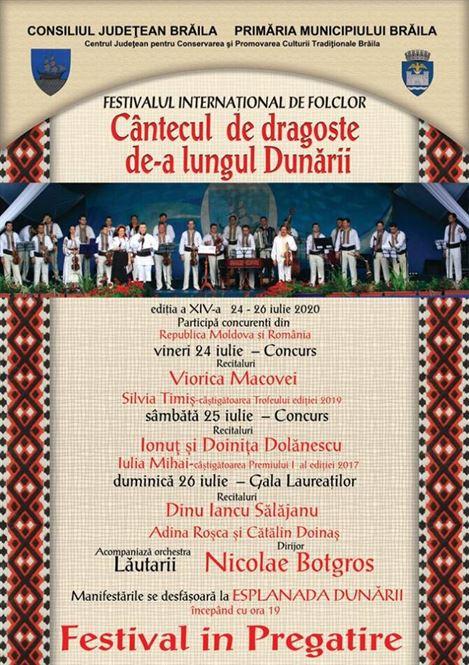 """Recitaluri de înalt nivel la a XIV-a ediție a Festivalului Internaţional de folclor """"Cântecul de dragoste de-a lungul Dunării"""""""