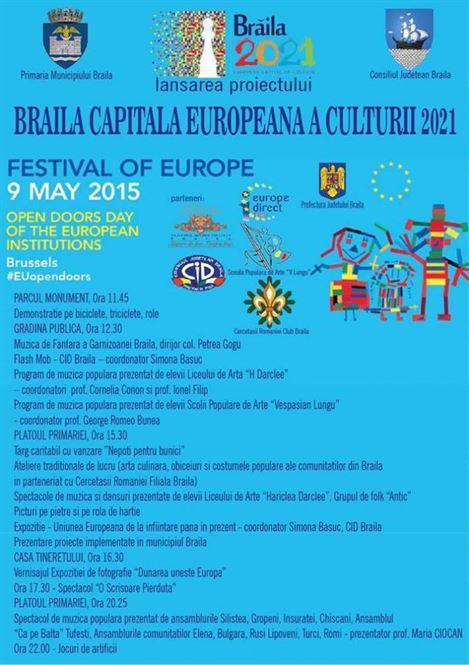 """Lansarea Proiectului """"Braila – Capitala Europeana a Culturii – 2021"""