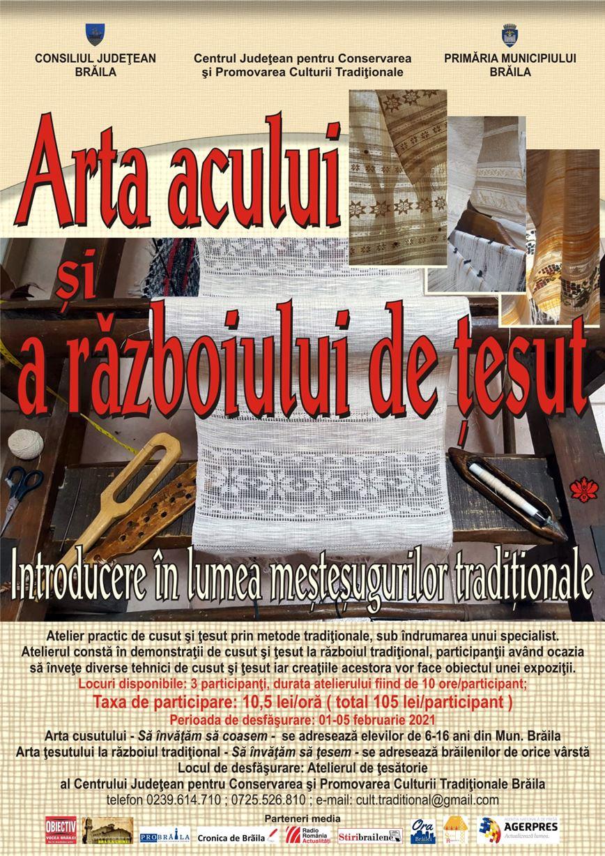 Arta acului și a războiului tradițional de țesut
