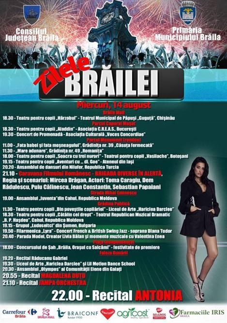Programul evenimentelor organizate astăzi de Zilele Brăilei