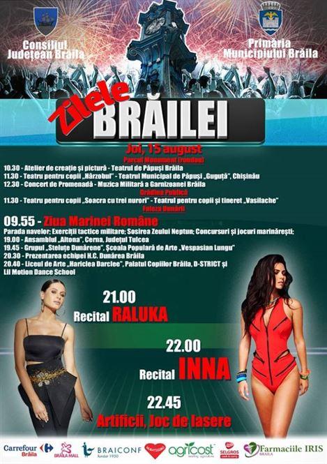 Recital Raluka și Inna în seara zilei de 15 august
