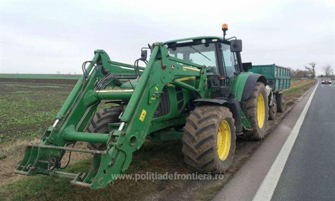 Depistat conducand un tractor fara a detine permis corespunzator categoriei