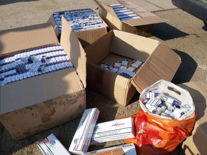 Galerie foto+video: Aproximativ 100.000 ţigarete de contrabandă descoperite de polițiștii de frontiera la Brăila, în urma unor percheziții domiciliare