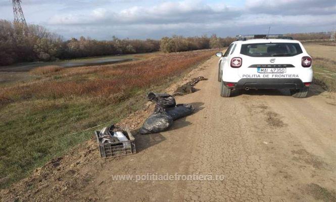 Infracțiuni de braconaj piscicol constatate de polițiștii de frontieră brăileni