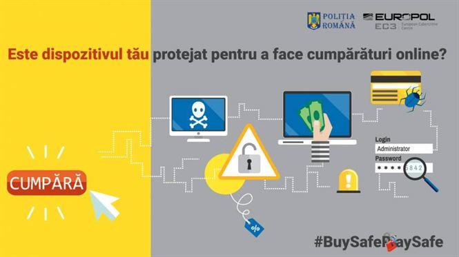 """""""Plăteşte online în siguranţă! – #BuySafePaySafe"""" – campanie de prevenire şi conştientizare asupra fraudelor pe internet, lansată la nivel european"""