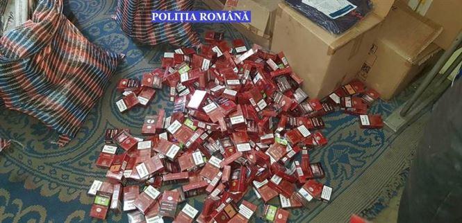 Peste o mie de pachete de țigări de contrabandă ridicate de polițiștii din Brăila