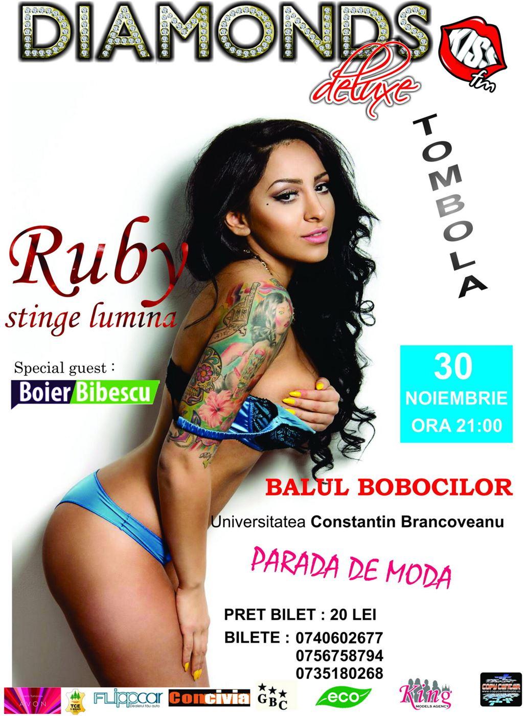 "Ruby si Boier Bibescu, la Balul Bobocilor de la Universitatea ""Constantin Brancoveanu"""