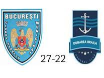 CSM Bucuresti – HC Dunarea Braila 27-22