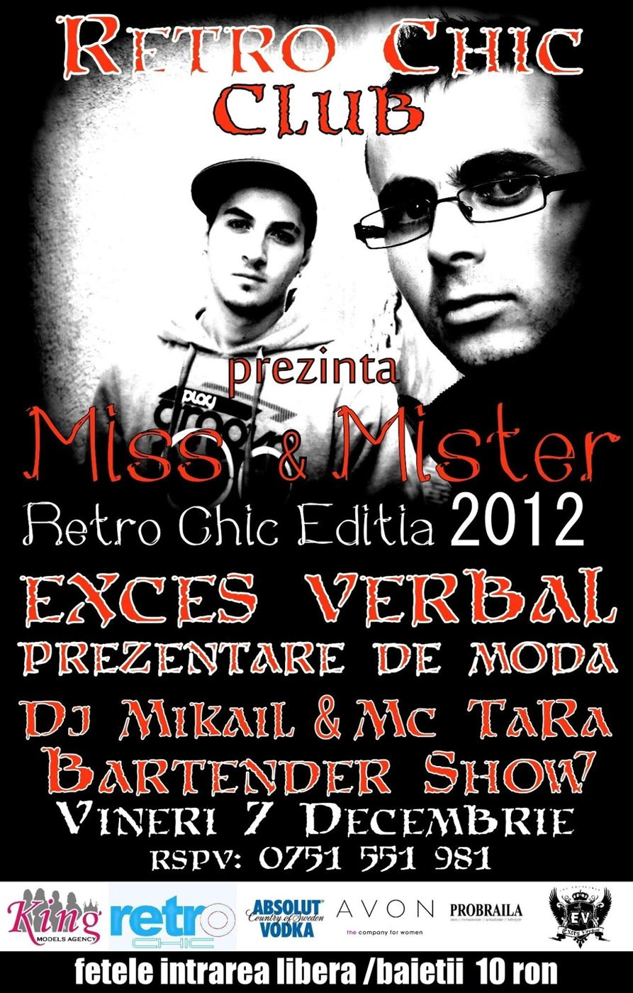 Miss & Mister Retro CHIC organizat de Retro Chic Braila; PROBRAILA este partener media al evenimentului