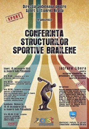 Conferinta structurilor sportive brailene