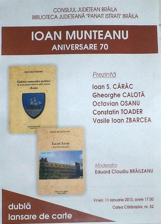 Ioan Munteanu. Dubla lansare de carte
