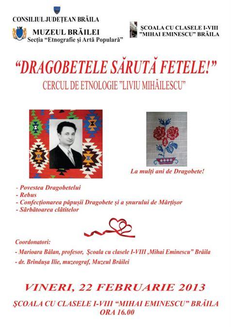 """Dragobetele saruta fetele!"", maine la Scoala ""Mihai Eminescu"" din Braila"