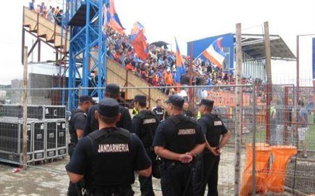 Peste 150 de jandarmi vor asigura sambata ordinea publica la meciul de fotbal dintre CF Braila si Steaua Bucuresti