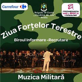 Concert sustinut duminica de Muzica Militara a Garnizoanei Braila