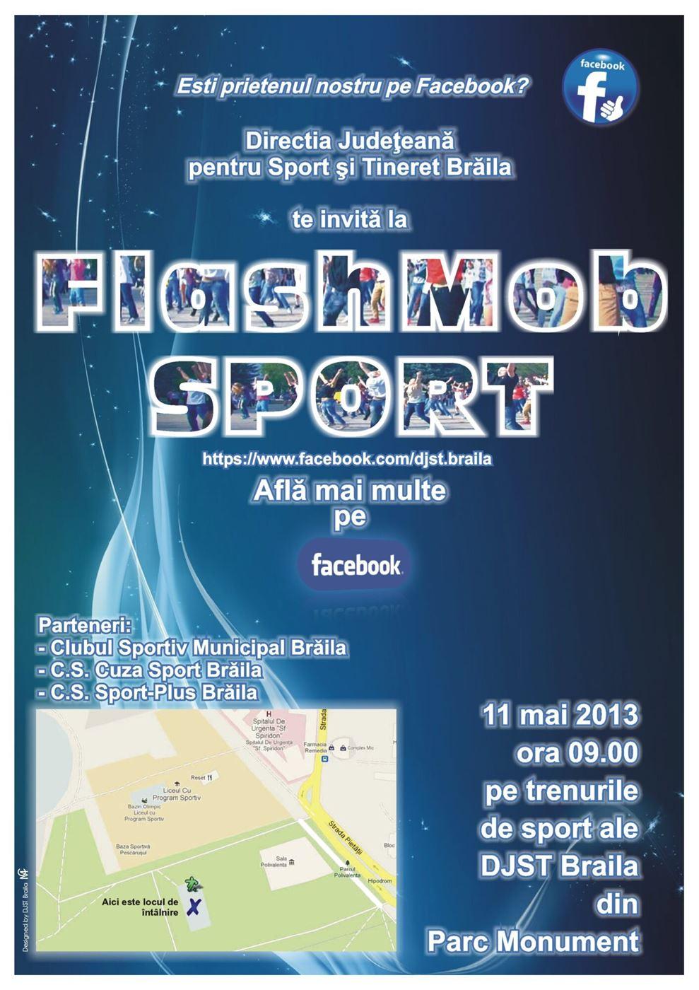 """FlashMob Sport"" cu prietenii Facebook"