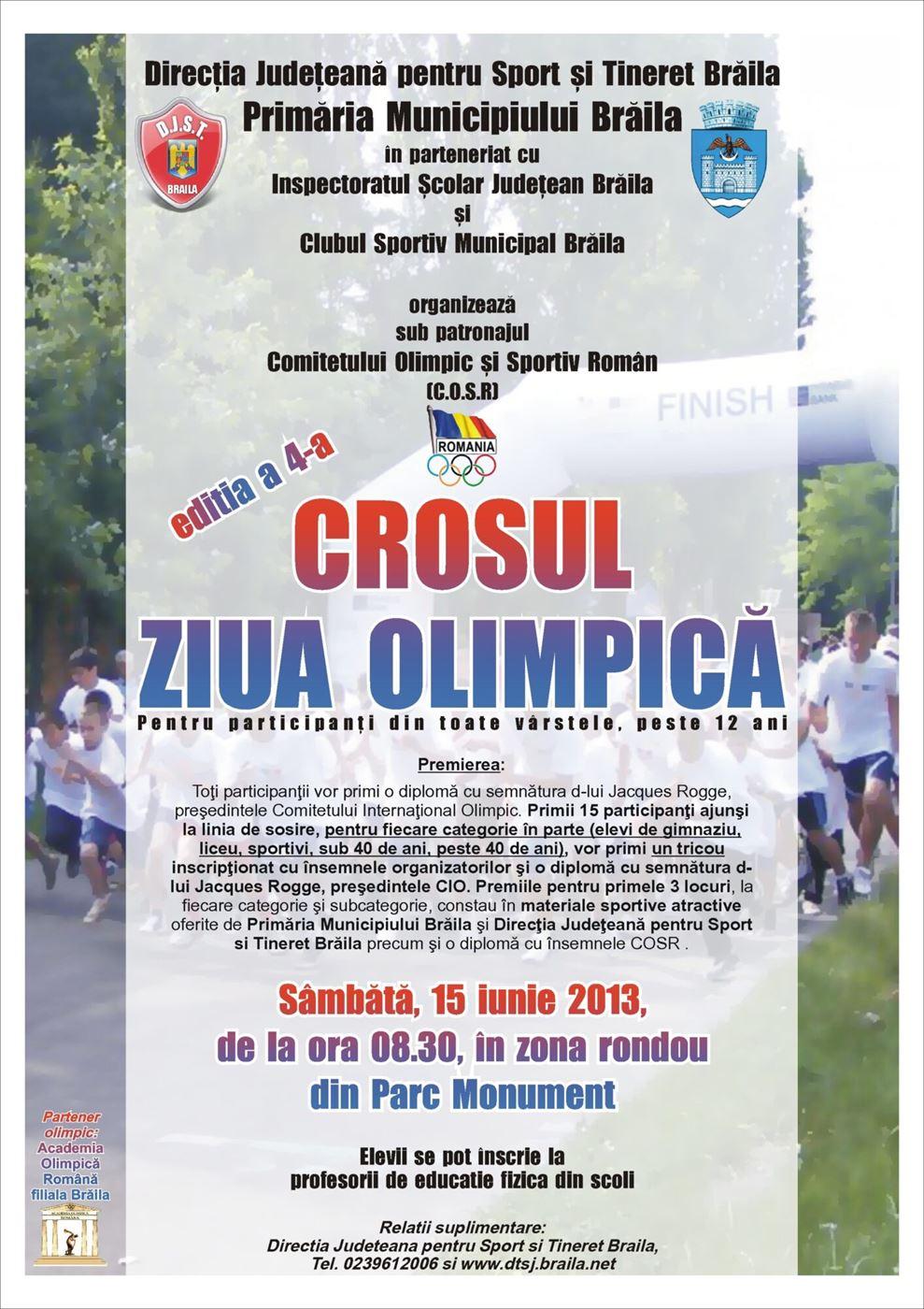 """Crosul """"Ziua Olimpica"""" la Braila"""