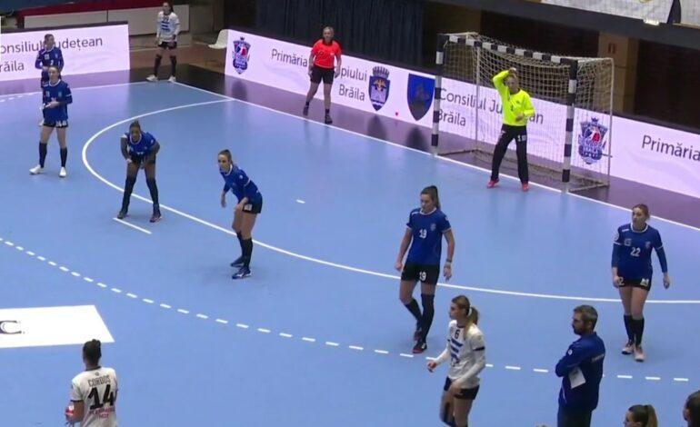 După ce a fost condusă cu 4 goluri în minutul 28, HC Dunărea a învins cu 6 goluri pe CSU Cluj Napoca