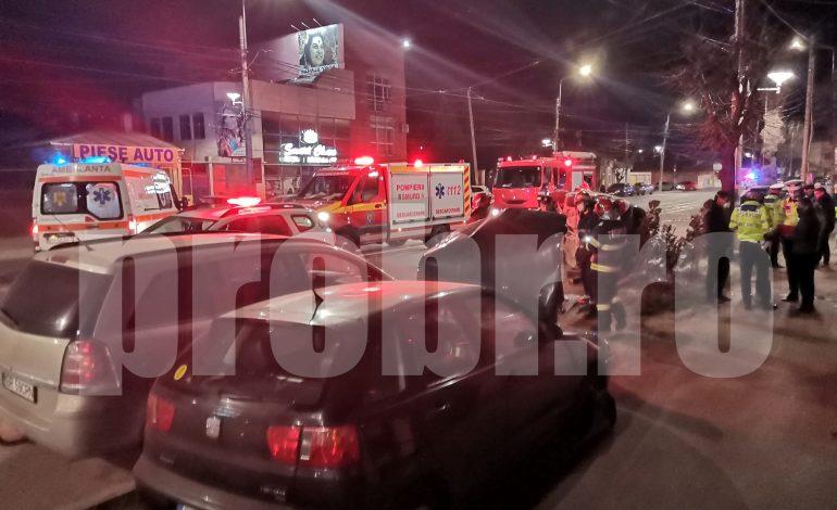 Șofer băut s-a răsturnat cu mașina pe Bulevardul Dorobanților