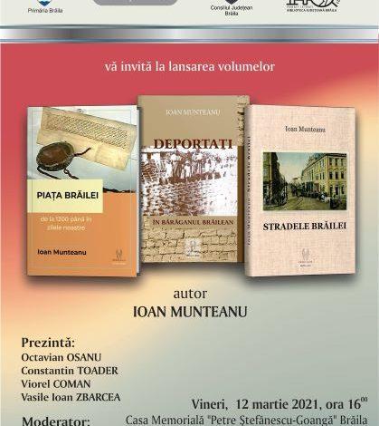 Ioan Munteanu – triplă lansare de carte
