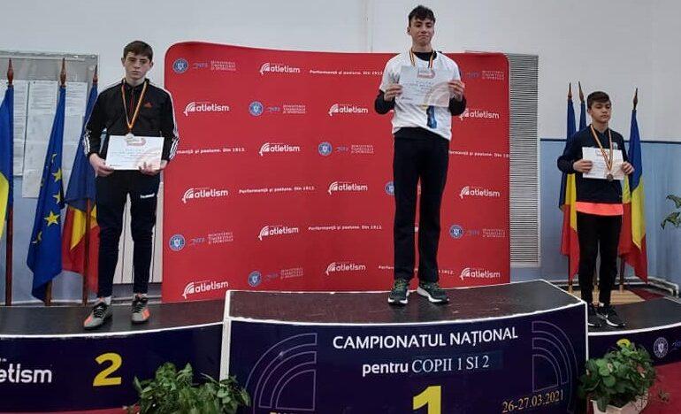 Trei medalii pentru atleții brăileni la finala Campionatului Național de copii 1 și 2