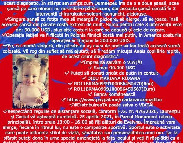Redați copilăria rapită micuței Anais Evelyna