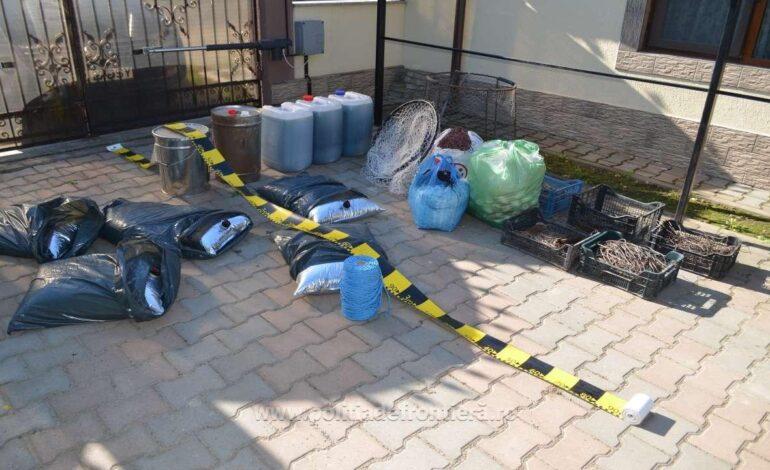 Un moped furat, peşte şi unelte de pescuit reţinute de poliţiştii de frontieră brăileni