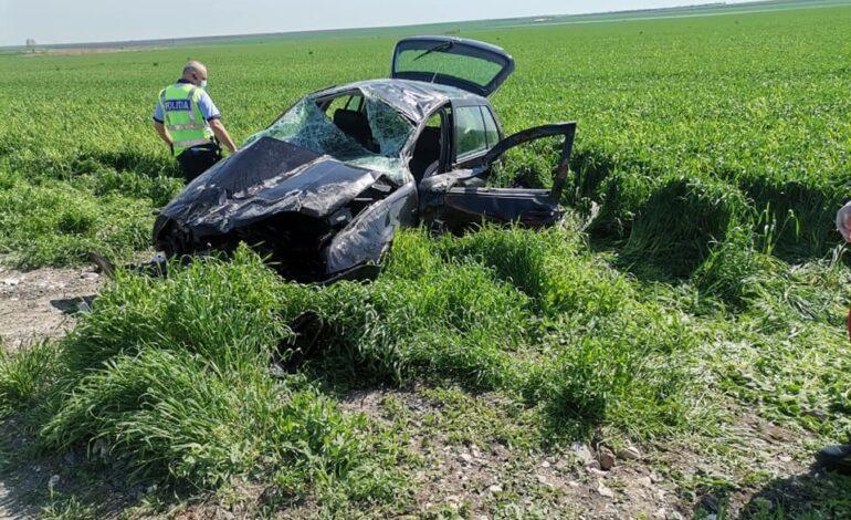 Galerie foto+video: Familie de brăileni accident în județul Constanța