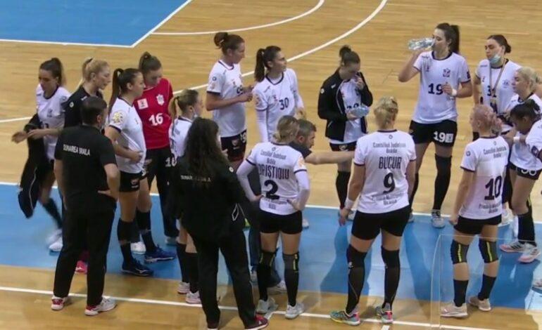 HC Dunărea a pierdut cu 26-35 meciul restanță cu Minaur Baia Mare