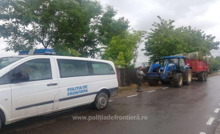 Brăilean fără permis de conducere depistat conducând un tractor în comuna Gropeni
