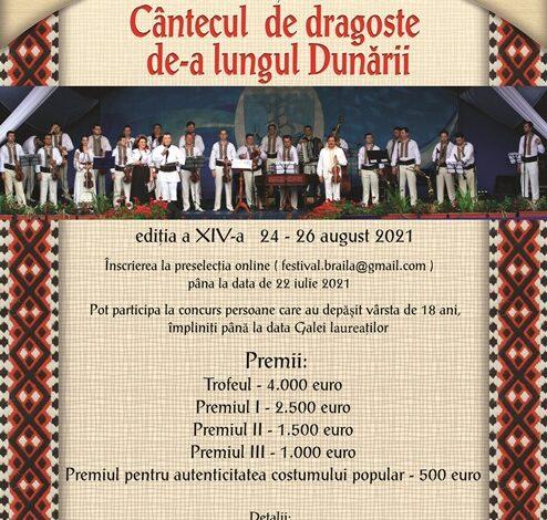 """În perioada 24-26 august se va desfășura Festivalului Internaţional de Folclor """"Cântecul de dragoste de-a lungul Dunării"""""""