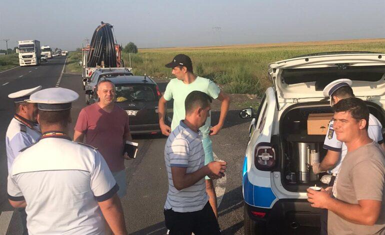 În această dimineață șoferii au avut parte de o surpriză din partea polițiștilor brăileni