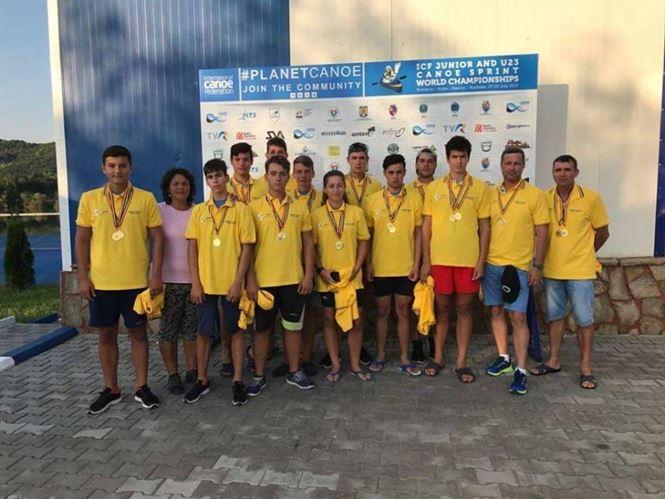 Cinci medalii pentru sportivii secției de kaiac-canoe de la CSM Braila