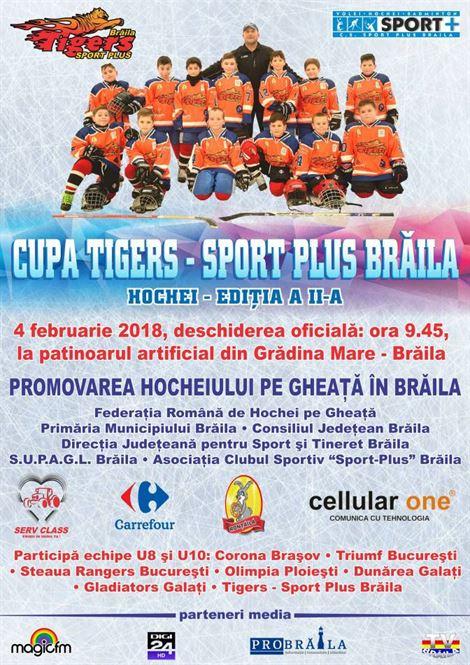 Cupa Tigers-Sport Plus Braila editia a II-a, pe Patinoarul din Braila