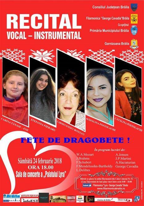 """Recital vocal-instrumental """"Fete de Dragobete!"""""""