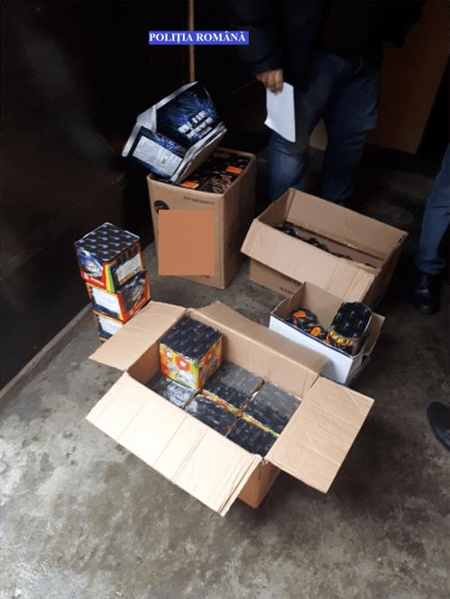 Articole pirotehnice confiscate de politistii braileni
