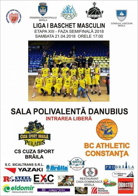 Cuza Sport Braila intalneste sambata de la ora 17 pe Athletic Constanta