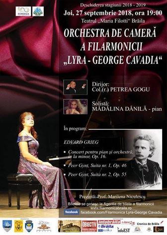 "Deschidere de stagiune la Filarmonica ""Lyra-George Cavadia"" Braila"