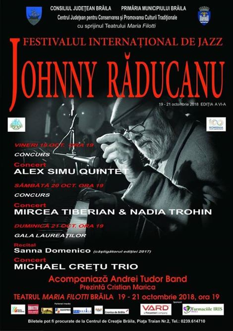 Trei recitaluri de marcă la ediția a VI-a a Festivalului de jazz Johnny Răducanu