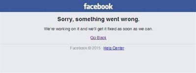 Probleme la reteaua facebook