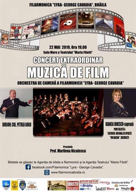 """Concert Extraordinar – """"Muzica de Film"""""""