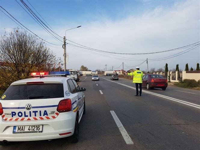 Actiuni ale politiei pe arterele rutiere din municipiu si judet