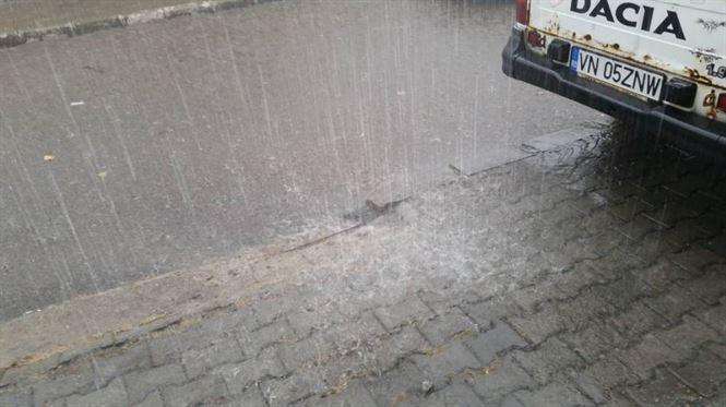 Furtuna și ploaia torențială face pagube la Brăila