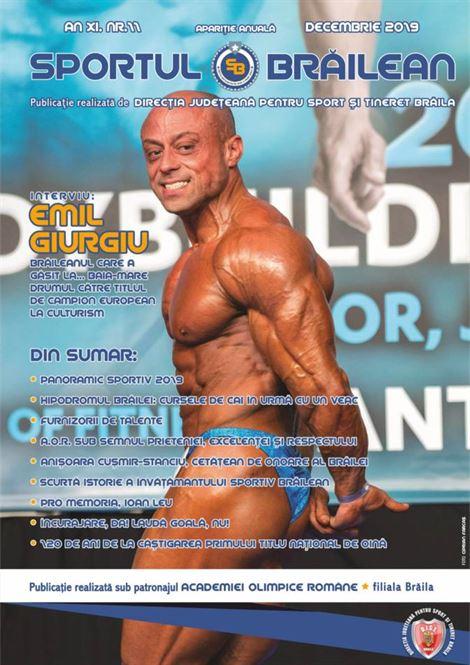 Campionul mondial de culturism Emil Giurgiu invitat la lansarea revistei Sportul Brăilean