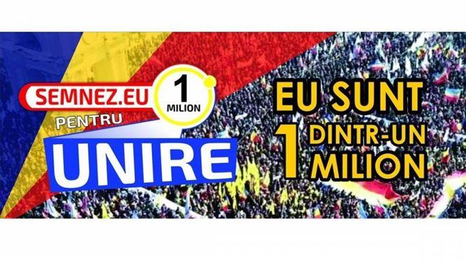 """Campania de semnături """"Un milion pentru Unire"""""""
