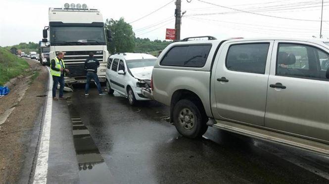 Inca un accident pe DN2B, in zona localitatii Baldovinesti