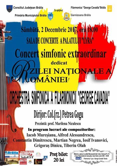 Concert extraordinar dedicat Zilei Nationale a Romaniei