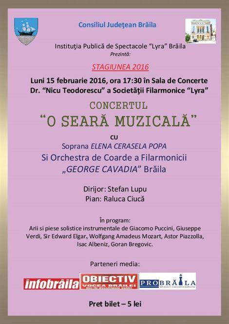 Seara muzicala la Filarmonica Lyra